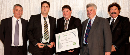 Andrew Bulmer -  2001 Young Grower of the year