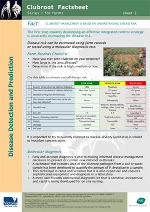 VG00044 Clubroot - Understanding disease risk