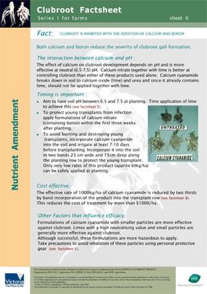 VG00044 Clubroot - Nutritional amendments