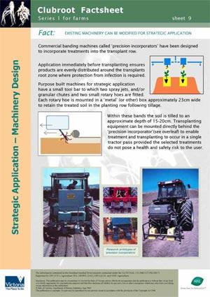 VG00044 Clubroot - Applicator design