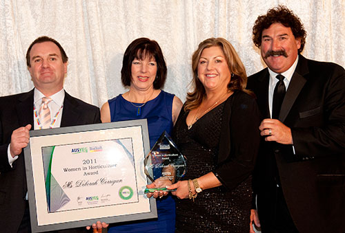 Deborah Corrigan receives the 2011 - Women in Horticulture - award