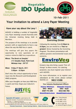 Invitation R&D Levy Meeting
