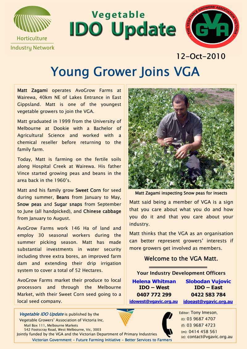 Young Grower Joins VGA