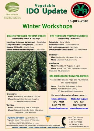 Vegetable Industry - Coming Events
