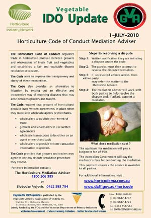 Horticulture Code of Conduct