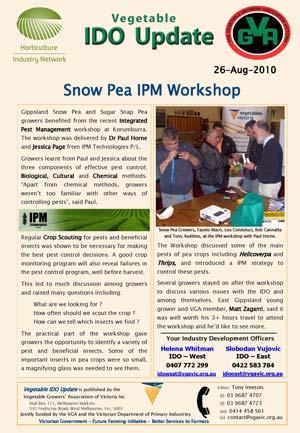 Snow Pea - Integrated Pest Management IPM