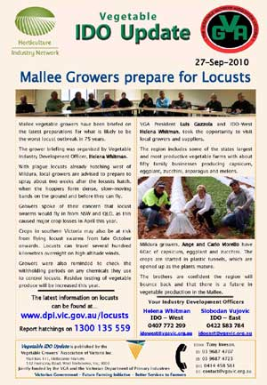Mallee Growers Prepare for Locusts