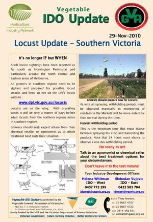 Locust Update - Southern Victoria