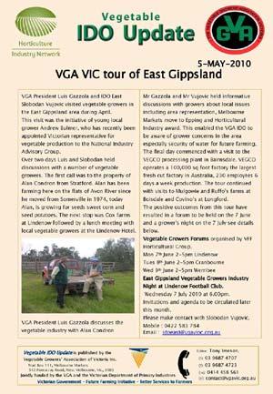 VGA tour of East Gippsland - 2010