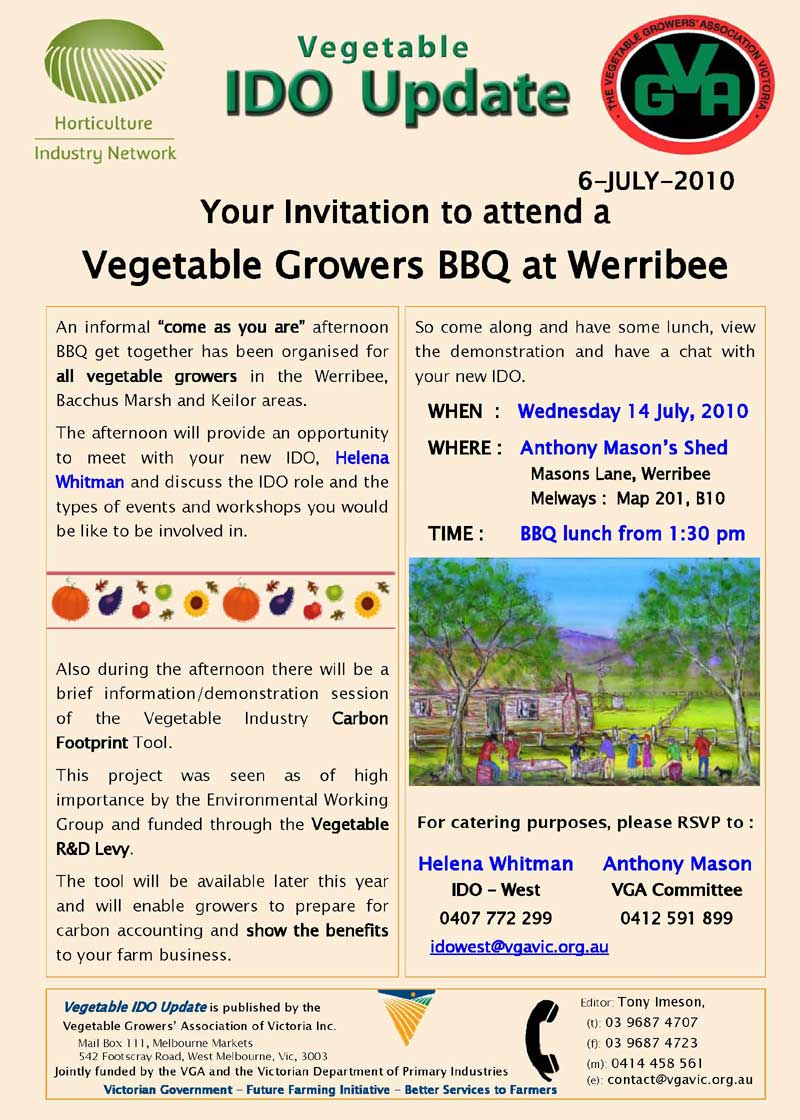 Vegetable Growers BBQ at Werribee