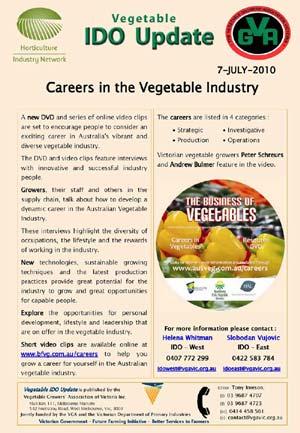 Careers in the Vegetable Industry