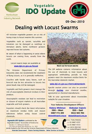 Dealing with locust swarms