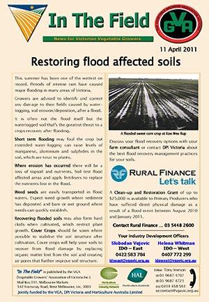 Restoring flood affected soils