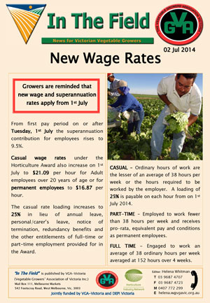 New Wage Rates