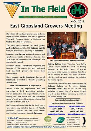 GIppsland Growers Meeting