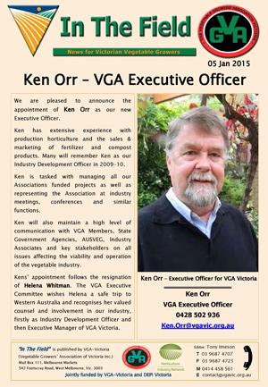 Ken Orr - VGA Executive Officer