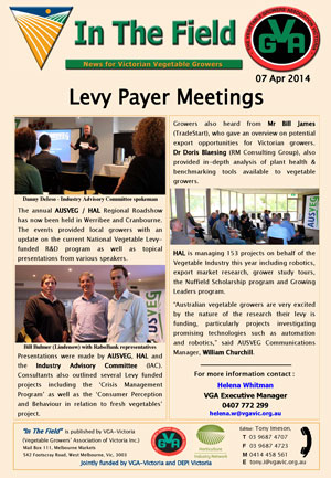 Levy Payer Meetings 2014