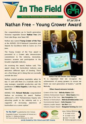 Nathan Free - Young Grower Award