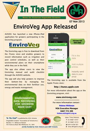 EnviroVeg App Launched