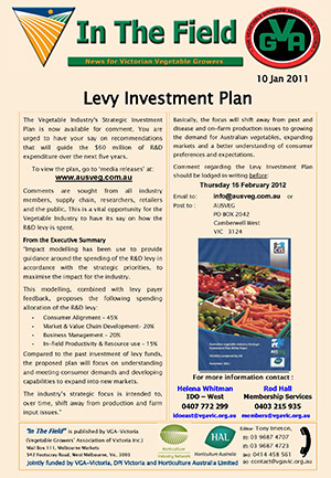 Strategic Investment Plan for R&D Levy expenditure