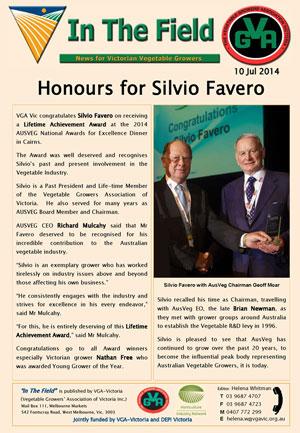 Silvio Favero - Lifetime Achievement Award