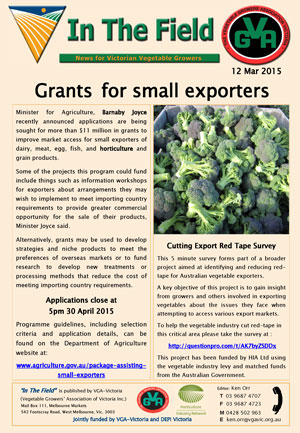 Grants for small exporters