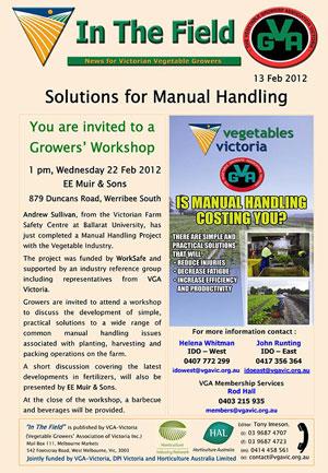 Manual Handling Workshop - Werribee