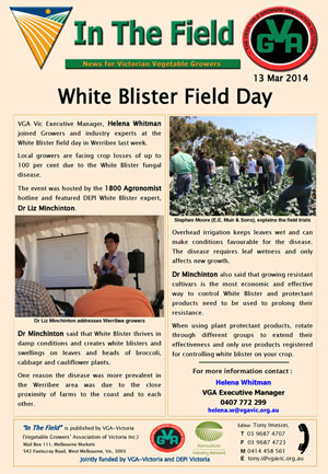 White Blister Field Day