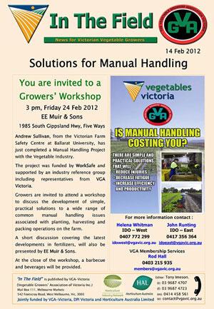 Manual Handling Workshop - Cranbourne