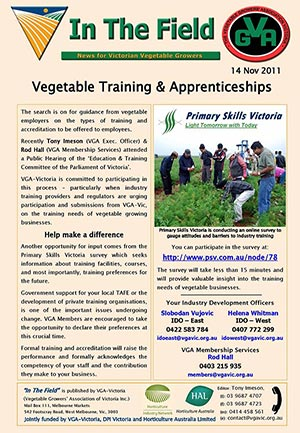 Vegetable Apprenticeships and Training