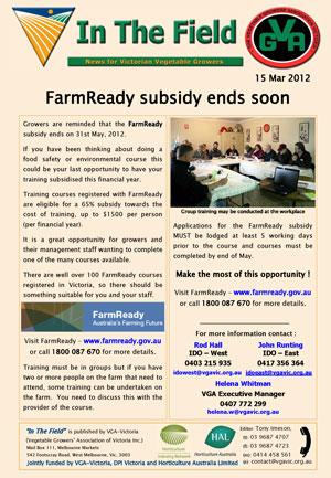 FarmReady subsidy ends soon