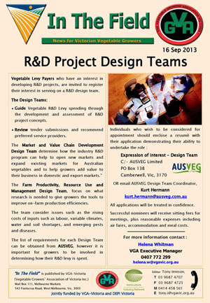 R&D Project Design Teams