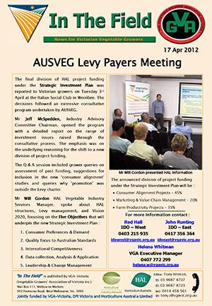AusVeg Levy Meeting
