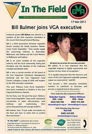 Bill Bulmer joins VGA executive