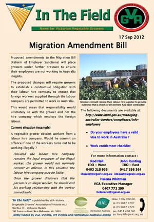 Migrant Amendment Bill