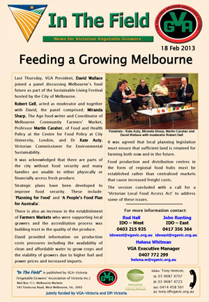 Feeding a Growing Melbourne
