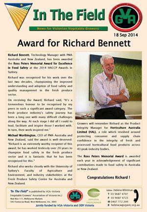 Richard Bennett - Ross Peters Award