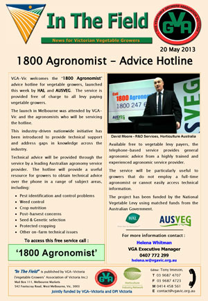 1800 Agronomist Advice Line