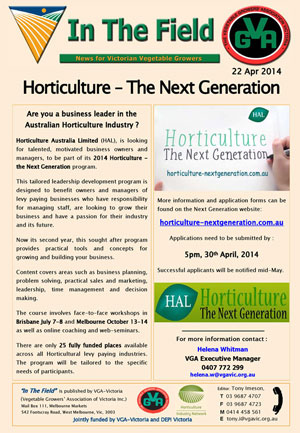 Horticulture - The Next Generation