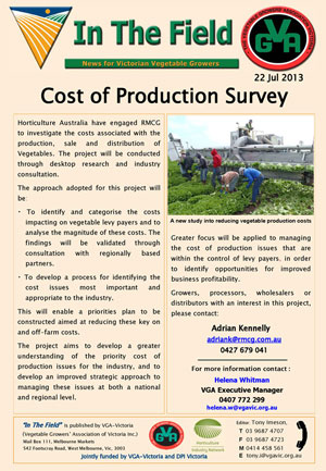 Cost of Production Survey