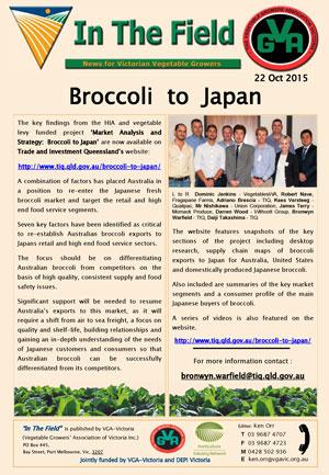 Broccoli to Japan