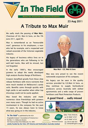 Tribute to Max Muir