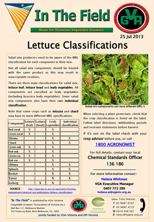 Lettuce Classification