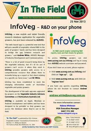 InfoVeg - R&D on your phone