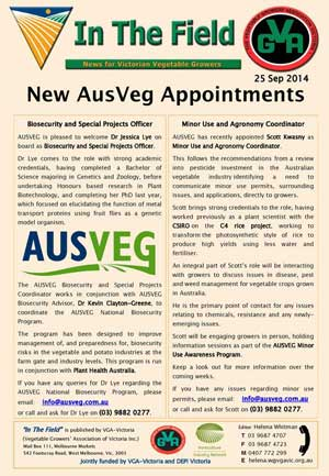 New Ausveg Appointments