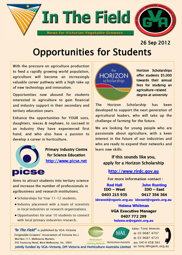 Opportunities for Students