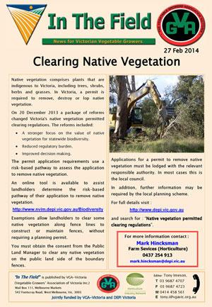 Clearing Native Vegetation