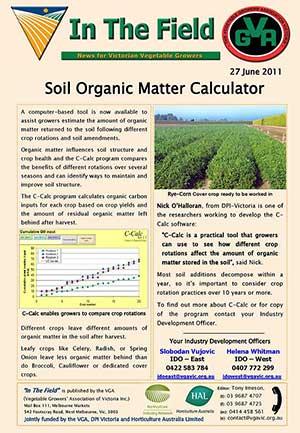 C-Calc - Calculates Soil Organic Matter