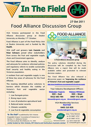 Food Alliance Discussion Group