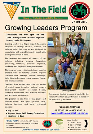 Growing leaders Program 2016